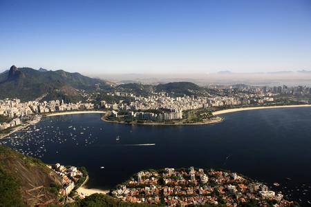 Foto de aerial view of botafogo from the sugar loaf in rio de janeiro brazil - Imagen libre de derechos