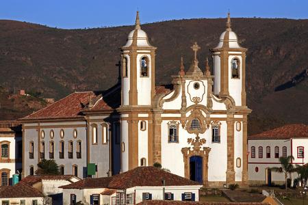 Photo pour view of the igreja de nossa senhora do carmo ,city of ouro preto in minas gerais brazil - image libre de droit