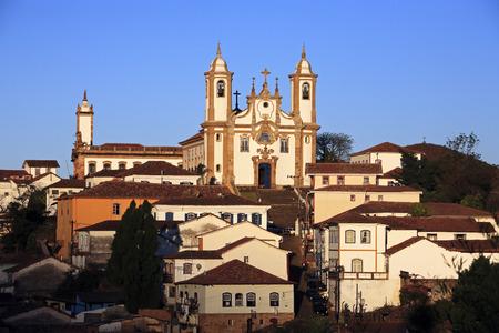 Photo pour view of the igreja de nossa senhora do carmo , city of ouro preto in minas gerais brazil - image libre de droit