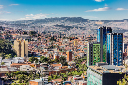 Photo for Bogota Skyline cityscape in Bogota capital city of Colombia South America - Royalty Free Image
