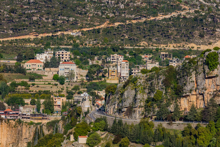 Jezzine landscapes skyle cityscape   in South Lebanon Middle east