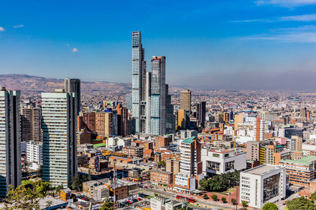 Foto de Bogota Skyline cityscape  capital city of Colombia South America - Imagen libre de derechos