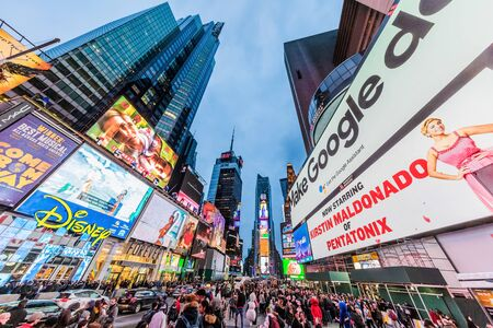 Foto für NEW YORK CITY- MARCH 24, 2018 : Times square Broadway one of the main Manhattan Landmarks - Lizenzfreies Bild