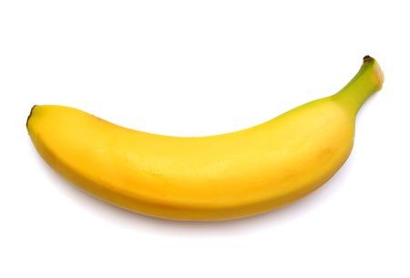 Foto de Single banana against white background - Imagen libre de derechos