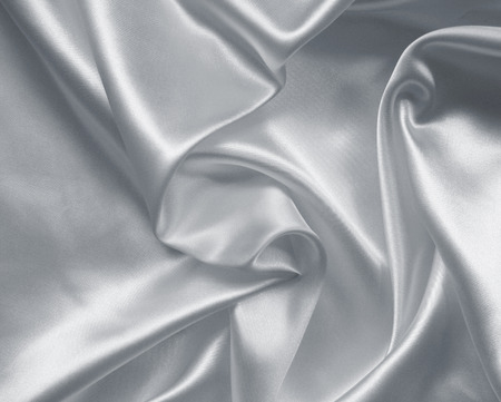 Photo pour Smooth elegant grey silk or satin texture can use as background - image libre de droit