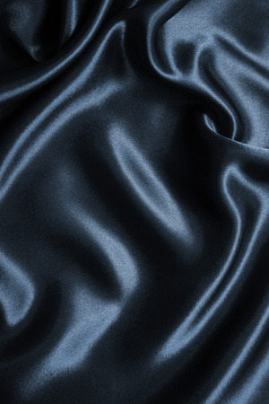 Photo for Smooth elegant dark grey silk or satin can use as background - Royalty Free Image