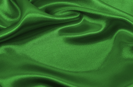 Photo pour Smooth elegant green silk or satin luxury cloth texture can use as abstract background. Luxurious background design - image libre de droit