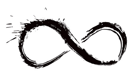 Illustration pour Infinity symbol created in grunge style - image libre de droit