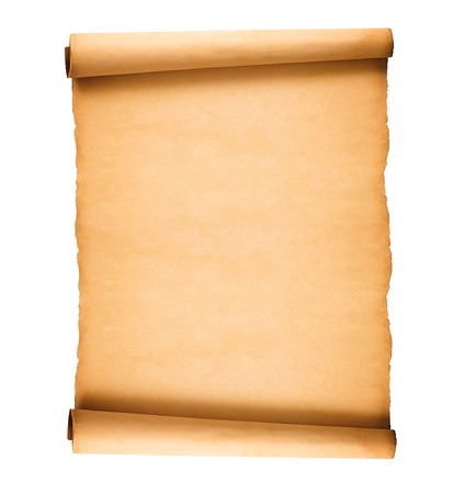 Photo pour scrolled old paper isolated on white background - image libre de droit