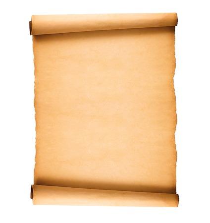 Foto de scrolled old paper isolated on white background - Imagen libre de derechos