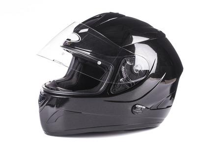 Foto de Black helmet Isolated on white background - Imagen libre de derechos