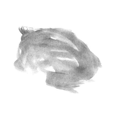 Illustration pour Vector hand drawn watercolor brush stain. Grayscale painted stroke. Painted by brush watercolor stain. Monochrome artistic backdrop. - image libre de droit