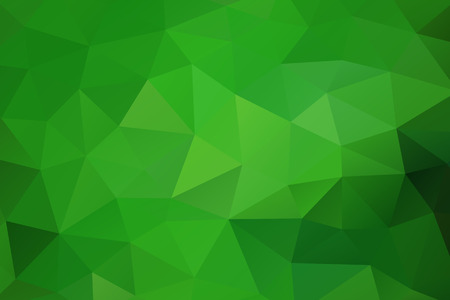 Illustration for Green abstract geometric rumpled triangular background low poly style. Vector illustration - Royalty Free Image
