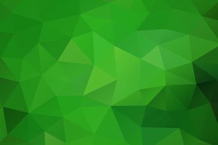 Ilustración de Green abstract geometric rumpled triangular background low poly style. Vector illustration - Imagen libre de derechos
