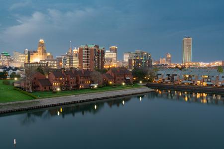 Foto per Aerial Skyline of Buffalo New York - Immagine Royalty Free
