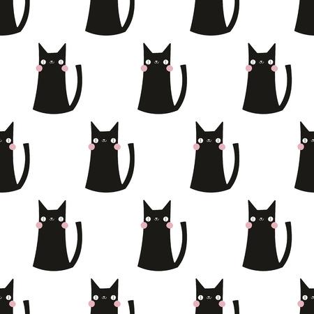 Photo pour seamless pattern,cat vector art  background design for fabric and decor - image libre de droit