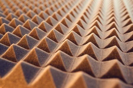 Photo pour Closeup pattern of acoustic foam panel background, toned image - image libre de droit