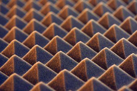 Photo pour Macro of acoustic foam panel background, toned image - image libre de droit