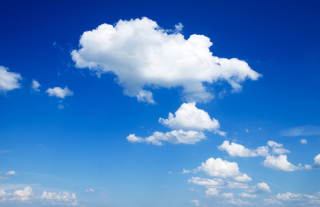 Photo pour blue sky background with a tiny clouds     - image libre de droit
