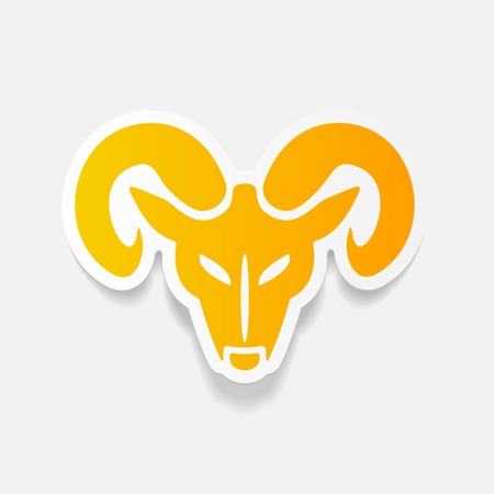 realistic design element: head of the ram