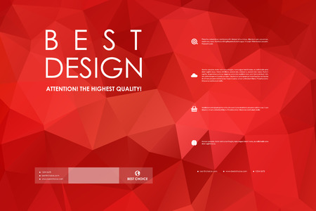Ilustración de Set of brochure, poster templates in polygonal style design and layout - Imagen libre de derechos