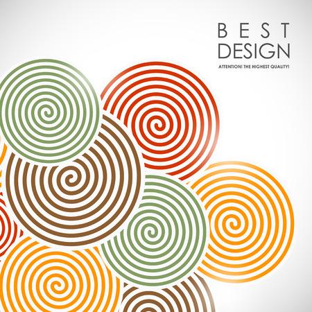 Ilustración de It is an abstract colourful bacrground with spiral elements - Imagen libre de derechos