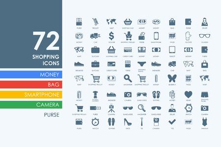 Ilustración de shopping vector set of modern simple icons - Imagen libre de derechos
