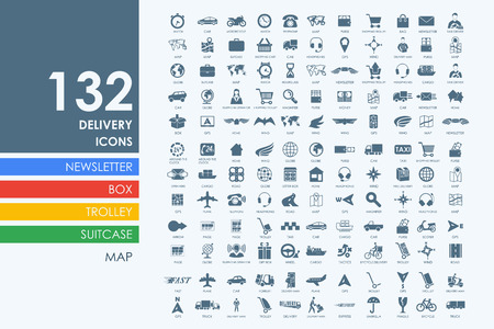 Foto de delivery vector set of modern simple icons - Imagen libre de derechos