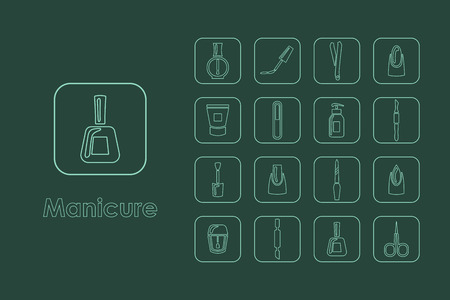 It is a set of manicure simple web icons
