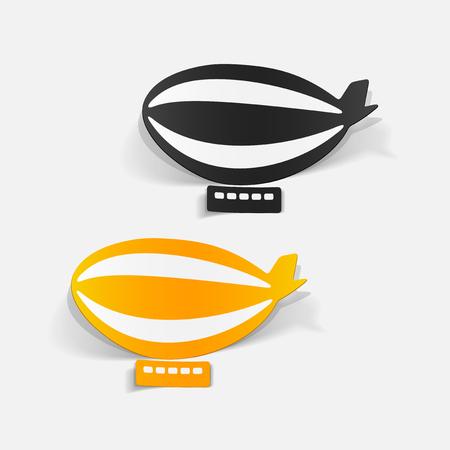 Illustration pour Realistic design element: airship - image libre de droit
