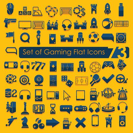 Illustration pour Set of game icons - image libre de droit