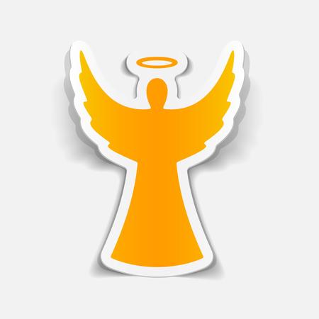Ilustración de realistic design element: angel - Imagen libre de derechos