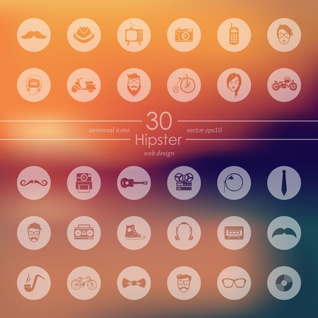 Illustration for Set of hipster icons - Royalty Free Image