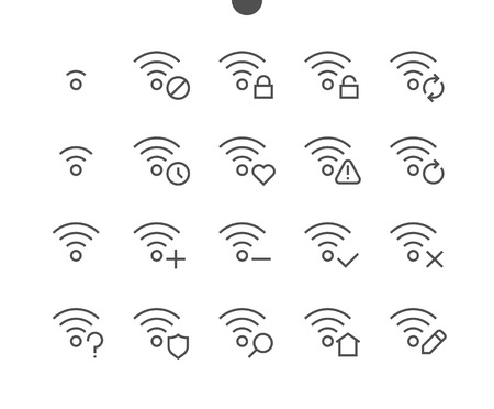 Foto de Network UI Pixel Perfect Well-crafted Vector Thin Line Icons 48x48 Ready for 24x24 Grid with Editable Stroke. Simple Minimal Pictogram - Imagen libre de derechos