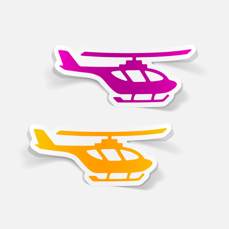 Illustration pour Realistic design element helicopter - image libre de droit
