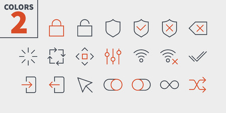 Illustration pour Control UI Pixel Perfect Well-crafted Vector Thin Line Icons. - image libre de droit