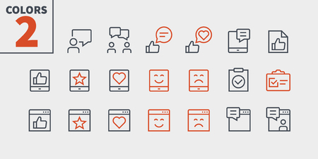 Illustration pour Emotions UI Pixel Perfect Well-crafted Vector Thin Line Icons 48x48 Ready for 24x24 Grid for Web Graphics and Apps with Editable Stroke. Simple Minimal Pictogram Part 5-5 - image libre de droit