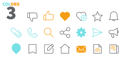 Photo for Social UI Pixel Perfect Well-crafted Vector Thin Line Icons 48x48 Ready for 24x24 Grid for Web Graphics and Apps with Editable Stroke. Simple Minimal Pictogram Part 2-3 - Royalty Free Image
