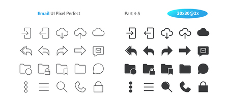Illustration pour Email UI Pixel Perfect Well-crafted Vector Thin Line And Solid Icons 30 2x Grid for Web Graphics and Apps. Simple Minimal Pictogram Part 4-5 - image libre de droit