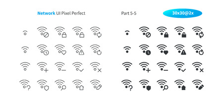 Foto de Network UI Pixel Perfect Well-crafted Vector Thin Line And Solid Icons 30 2x Grid for Web Graphics and Apps. Simple Minimal Pictogram Part 5-5 - Imagen libre de derechos