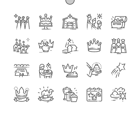 Ilustración de Epiphany Well-crafted Pixel Perfect Vector Thin Line Icons 30 2x Grid for Web Graphics and Apps. Simple Minimal Pictogram - Imagen libre de derechos