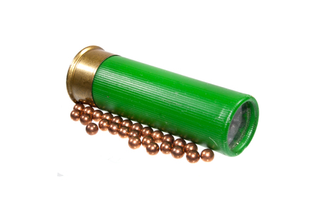 Photo pour hunting cartridge isolated on white background - image libre de droit
