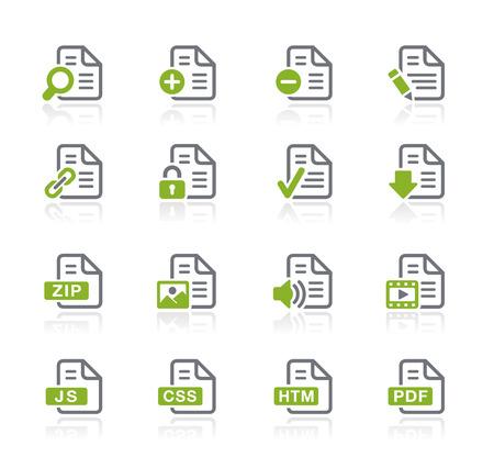Illustration pour Documents Icons - Nature Series - image libre de droit