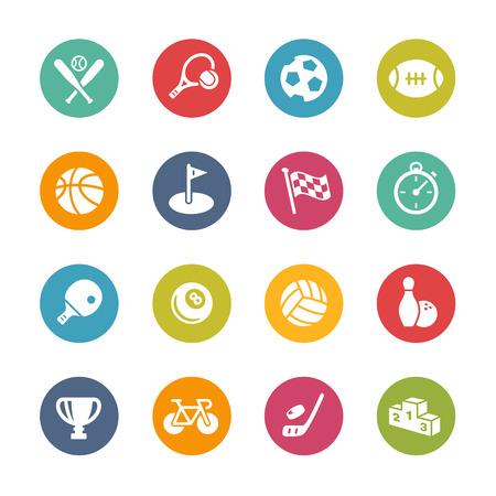 Ilustración de Sport Icons -- Fresh Colors Series - Imagen libre de derechos