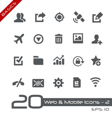 Illustrazione per Web and Mobile Icons  - Immagini Royalty Free