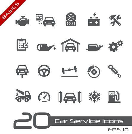 Illustration pour Car Service Icons -- Basics - image libre de droit