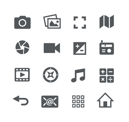 Illustration pour Media Icons -- Apps Interface - image libre de droit