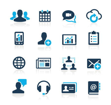 Photo for Business Technology Icons  Azure Series - Royalty Free Image