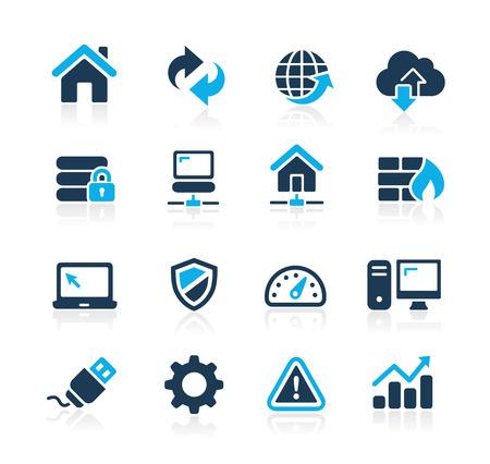 Foto de Web Developer Icons  Azure Series - Imagen libre de derechos