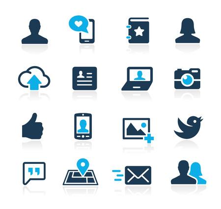 Ilustración de Social Icons  Azure Series - Imagen libre de derechos